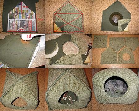 Из чего и как построить кошкин дом?